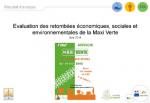 Évaluation des retombées économiques, sociales et environnementales de la Maxi Verte