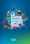 Le guide handisport 2019
