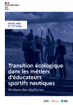 Transition écologique dans les métiers d'éducateurs sportifs nautiques : analyse des diplômes